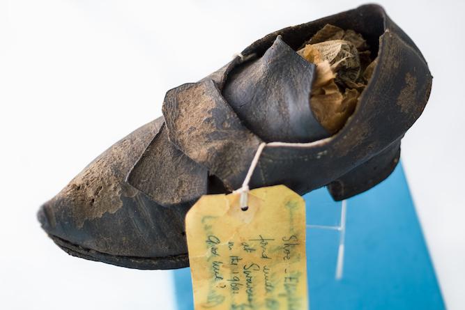 Worn shoe as a charm
