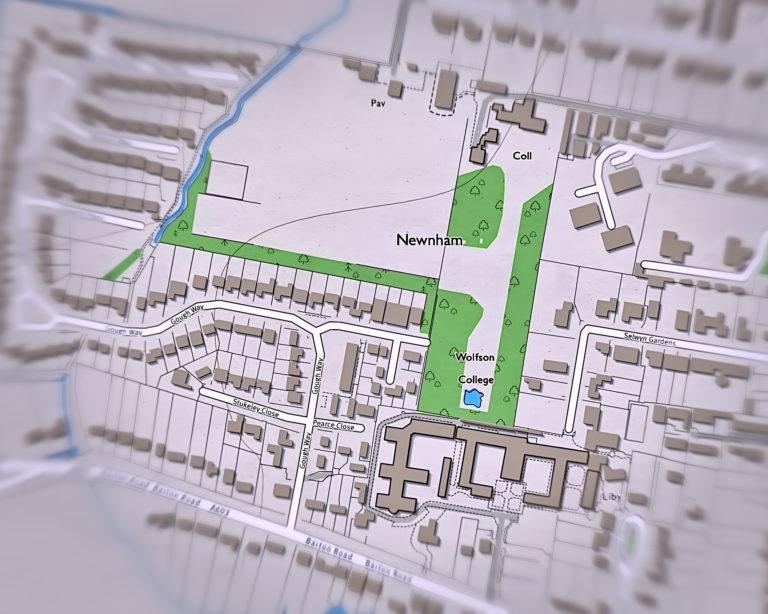 OS Map of Newnham