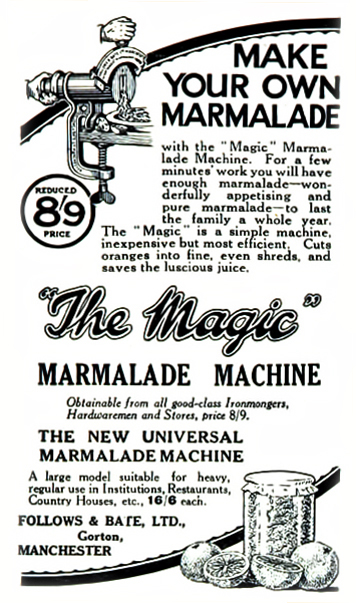Magic Marmalade Maker advert, January 1929