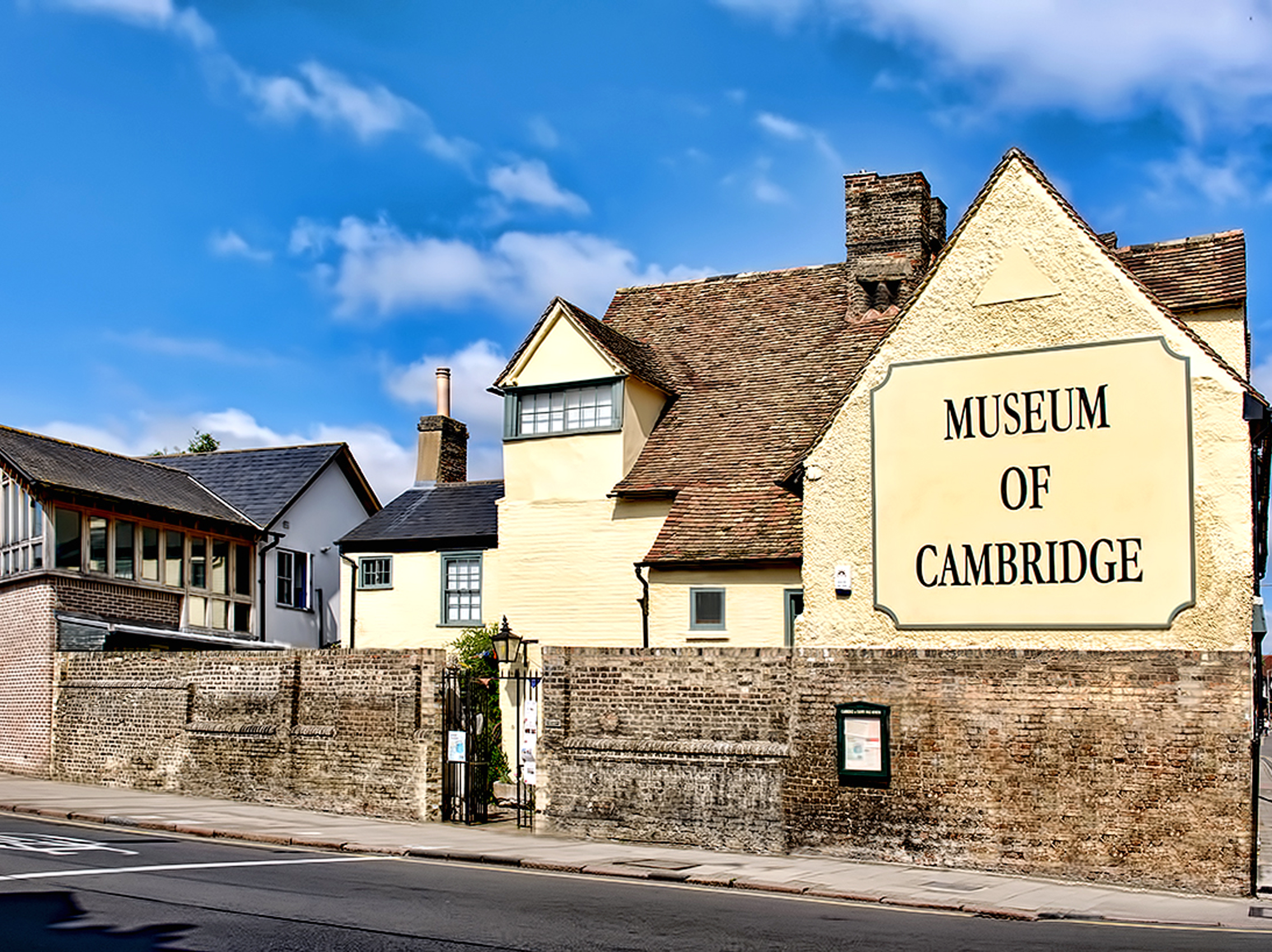 The Museum of Cambridge from the corner of Northampton Street