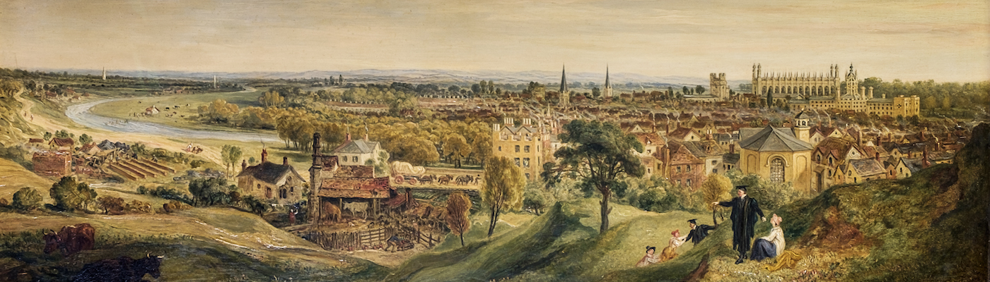 Painting of Cambridge by J.M. Ward
